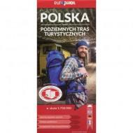 Europilot Polska Mapa Podziemnych Tras Turystycznych 1 : 750 000